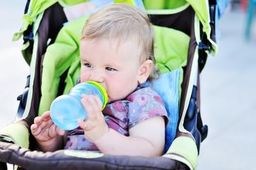 drinking infant girl