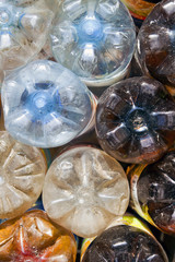 plastic bottles  background