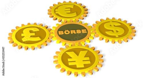 Währung an der Börse