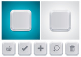 Vector computer keyboard button square icon