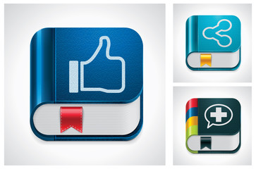 Vector social media sharing icon set