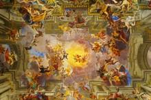 Dome of church of Saint Ignatius of Loyola. Rome, Italy