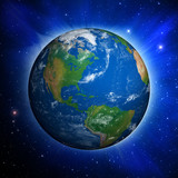 Fototapety Planet Earth showing North America