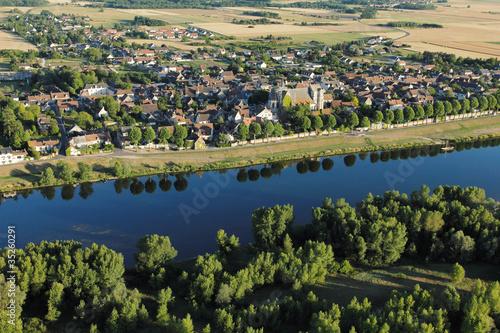 Poster vue aérienne de Saint-Dyé-sur-Loire