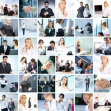 A large business collage with many persons poster