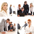A collage of images with young business persons