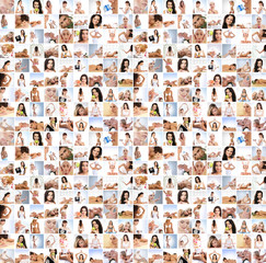 Great collage made of many pictures about health