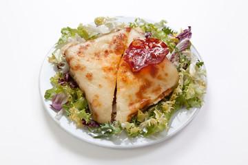 sandwich de queso y chorizo