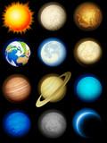 Fototapety Solar system icons