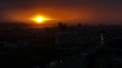 Sunset at Novosibirsk, Russia