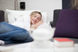 Leinwandbild Motiv Sleeping beautyful Woman
