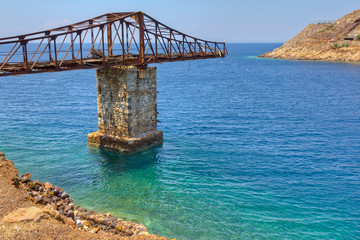 Abandoned pier at Megalo Livadi, Serifos, Greece