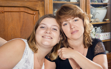 portrait of two beautiful women friends