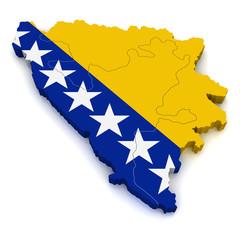 3D Map of Bosnia and Herzegovina