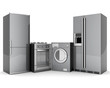 Leinwanddruck Bild - picture of household appliances on a white background