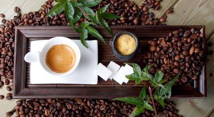 caffè visto dall'alto