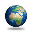 Leinwandbild Motiv Isolated Planet Earth showing Europe and Africa
