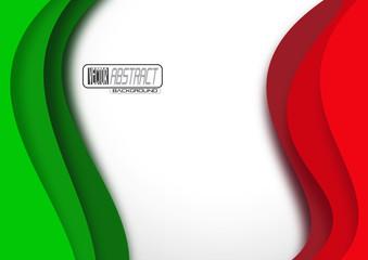 Bandiera tricolore astratta # Vettoriale