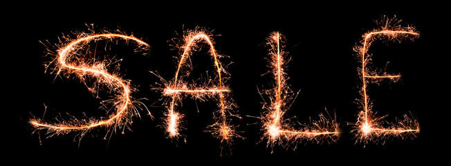 Sale made of sparklers