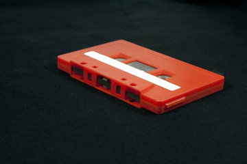 Audio cassette isolated on black