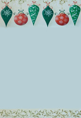 Retro Christmas Border on a gray background