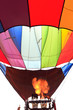 hot air balloon with flame