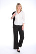Beautiful blonde business woman casual in suit