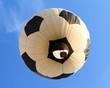 hot air balloon in shape of soccer ball