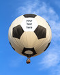 hot air balloon in shape of soccer ball