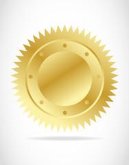 illustration of gold seal