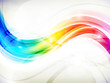 Abstract Rainbow Wave Background