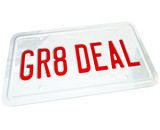 Gr8 Deal License Plate Great Price on a Used or New Car