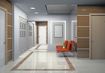 Hall a modern office