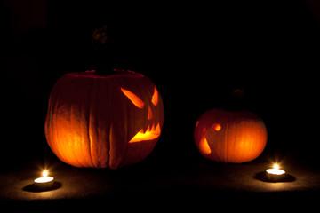 Halloween scary jack'o'lantern pumpkin faces