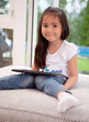 Cute Young Child with Digital Tablet