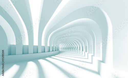 Fototapeta 3d Illustration of Blue Abstract Architecture Background