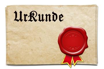 alte Urkunde + Siegel