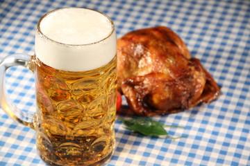 Mass Bier und Hähnchen
