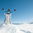 Winter, ski sun and fun - space for text