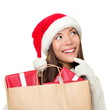 Christmas gifts shopping woman thinking