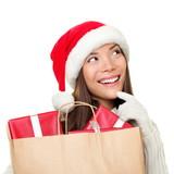 Christmas gifts shopping woman thinking
