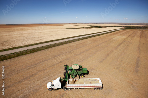 Aerial Harvest on the Prairie