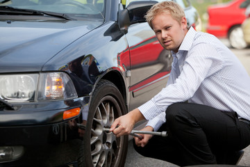 Business Man Tire Change