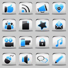 button White_blue Social Media