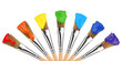 colored paint brushes 1