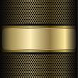 mesh background label gold