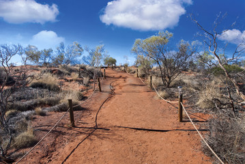 Australian Outback with Clouds