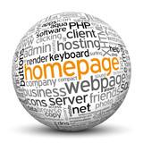 Kugel mit Textur - Homepage, Website, Schlagworte, Keywörter
