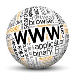 www, world wide web, Keyword, Tag Cloud, Ball, Sphere