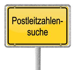 Schild Postleitzahlen Suche